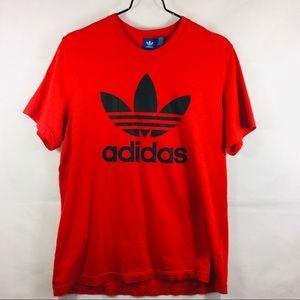 Adidas Red Trefoil Logo Blue Label T-shirt